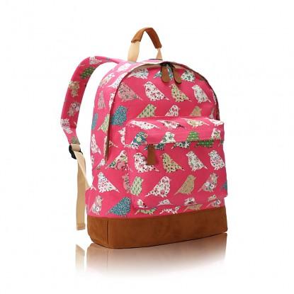 Batoh D.Fashion Birds Mania - růžový MIXONE.cz 63d0334bed