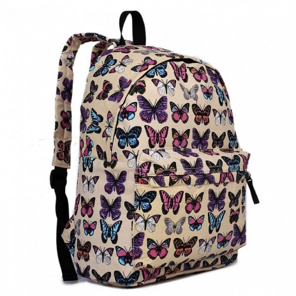 Batoh Lulu Butterfly - žlutý MIXONE.cz 097f6b7264
